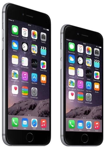 Vergleich Apple iPhone 6 und iPhone 6 Plus bei der Telekom