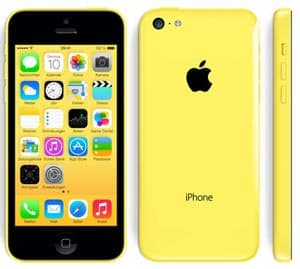 Apple iPhone 5c in gelb