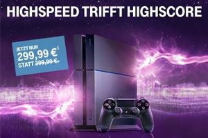 Sony PS4 bei Telekom: PlayStation 4 zum Vorzugspreis