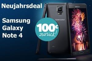 Samsung Neujahrs-Deal: 100 € Cash zurück Kauf Galaxy Note 4