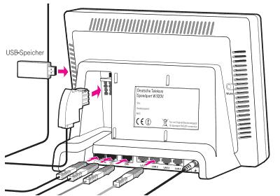 Telekom / T-Home Speedport W920V - Ansicht Rückseite