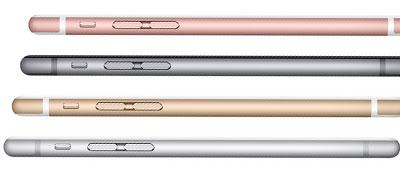 Farben des Apple iPhone 6s Plus bei der Telekom