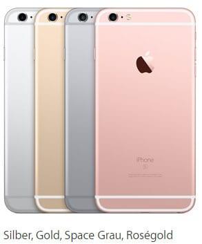Farben des Apple iPhone 6s Plus mit Telekom Vertrag