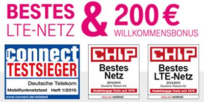 Mit Telekom im besten LTE Netz surfen