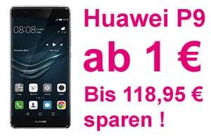 Telekom Aktion: Huawei P9 mit MagentaMobil ab nur 1 Euro