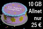 Aktion: congstar Allnet Flat 10 GB für 25 € oder 5 GB für 20 € mtl.