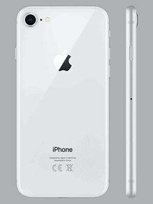 Telekom - Apple iPhone 8 - silber / hinten