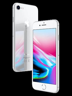 Telekom - Apple iPhone 8 - silber / seitlich