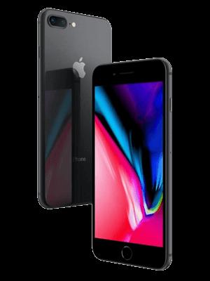 Telekom - Apple iPhone 8 Plus - schwarz / seitlich