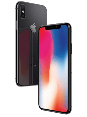Telekom - Apple iPhone X - schwarz / seitlich