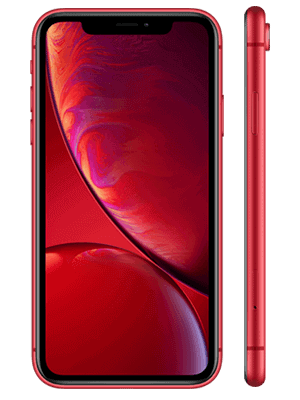 Telekom - Apple iPhone XR - rod (product red) / seitlich