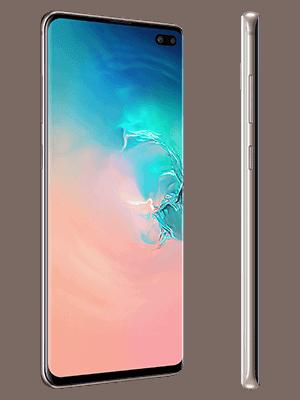 Telekom - Samsung Galaxy S10+ - weiß / ceramic white (seitlich)