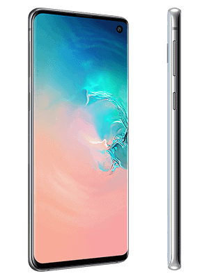 Telekom - Samsung Galaxy S10 - weiß / prism white (seitlich)