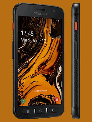 Telekom - Samsung Galaxy XCover 4s - schwarz / seitlich