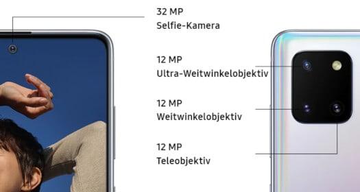 Kamera vom Samsung Galaxy Note10 Lite