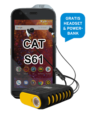 Telekom - CAT S61 - mit Headset und Akku / Powerbank