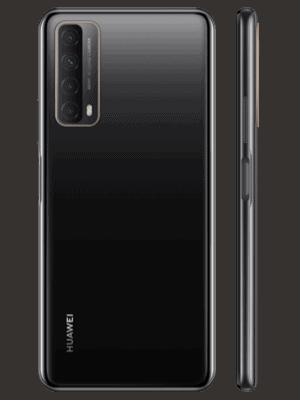Telekom - Huawei P smart 2021 - midnight black / schwarz - seitlich / hinten