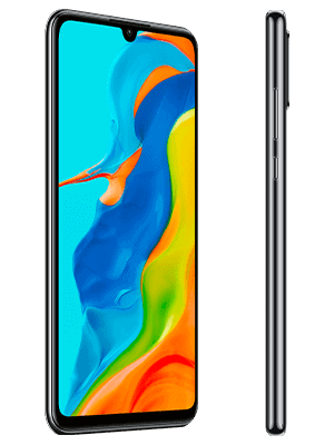 Telekom - Huawei P30 lite New Edition - schwar / midnight black - seitlich