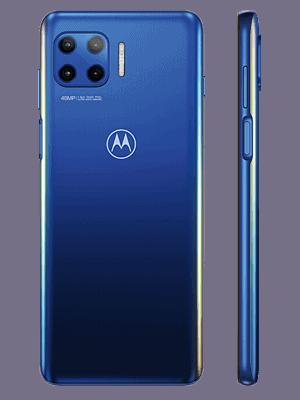 Telekom - Motorola Moto G 5G Plus - blau (hinten / seitlich)