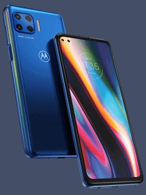 Telekom - Motorola Moto G 5G Plus - blau / seitlich
