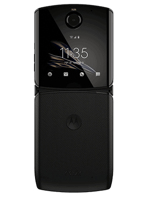 Telekom - Motorola Razr 5G - aufgeklappt / hinten