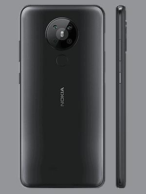 Telekom - Nokia 5.3 - schwarz (hinten / seitlich)