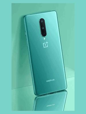 Telekom - OnePlus 8 - grün (seitliche Ansicht)