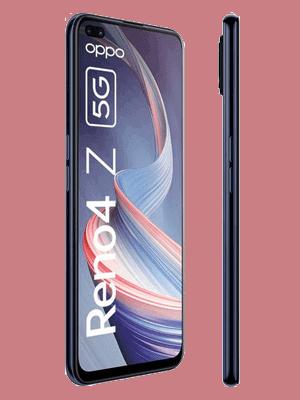 Telekom - Oppo Reno4 Z 5G - ink black / schwarz - seitlich