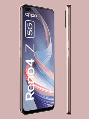 Telekom - Oppo Reno4 Z 5G - dew white / weiß - seitlich