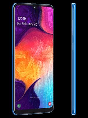 Telekom - Samsung Galaxy A50 - blau (seitlich)