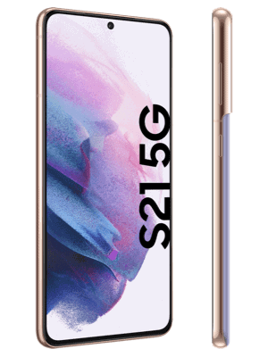 Telekom - Samsung Galaxy S21 5G - phantom violet - seitlich
