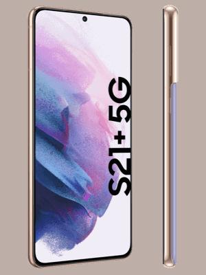 Telekom - Samsung Galaxy S21+ 5G - phantom violet - seitlich