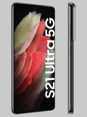 Telekom - Samsung Galaxy S21 Ultra 5G - schwarz (phantom black) - seitlich