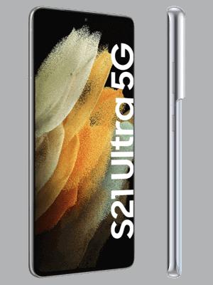 Telekom - Samsung Galaxy S21 Ultra 5G - silber (phantom silver) - seitlich