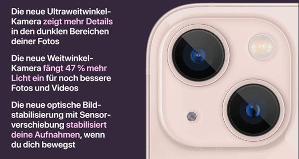 Kamera vom Apple iPhone 13